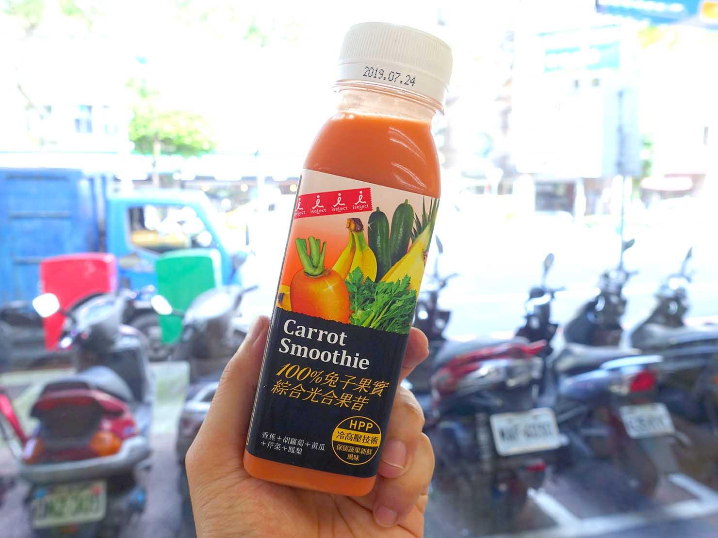 台湾のコンビニでよく食べているおやつ「冷壓果汁(コールドプレスジュース)」