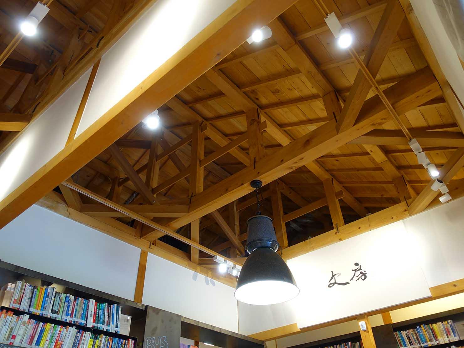 台北の街に佇む日本式古民家の図書館「文房 Chapter」の屋根