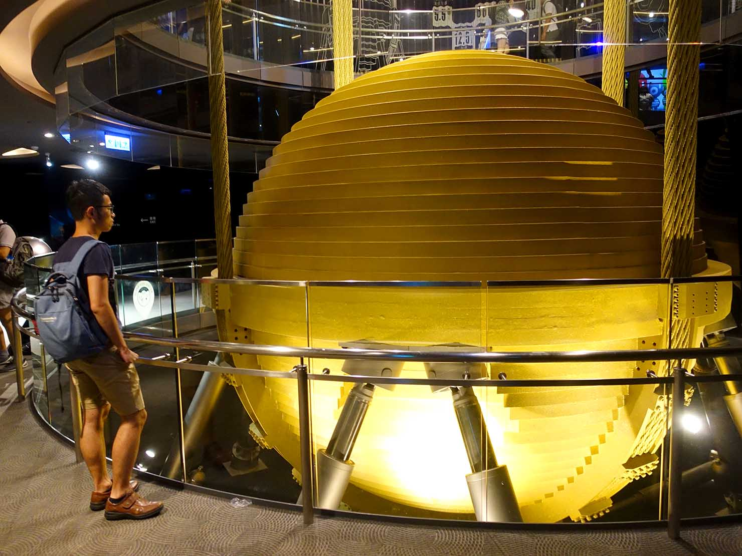 台北101展望台のウィンドダンパー