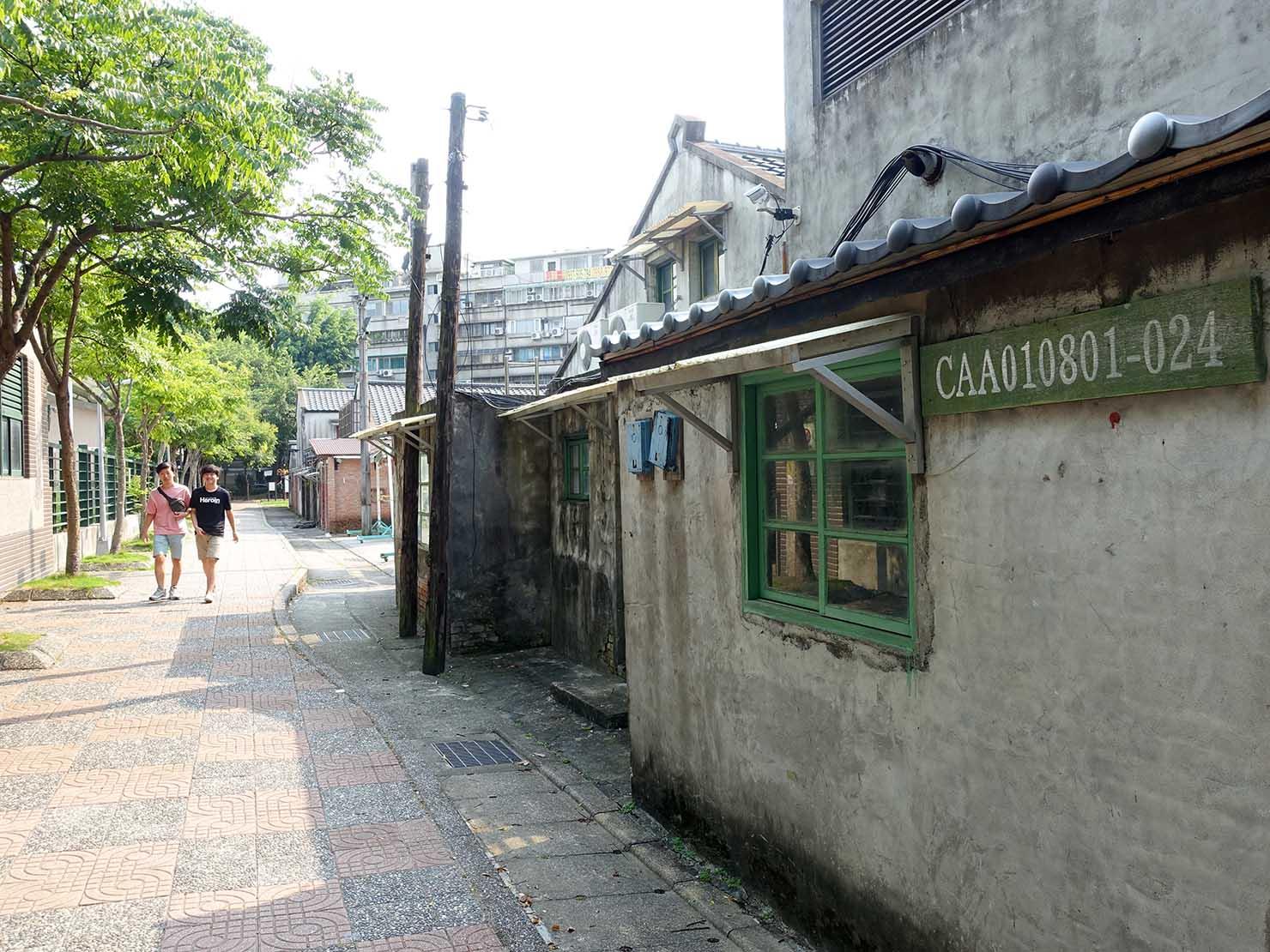 台北101エリアのフォトジェニックスポット「四四南村」の通り