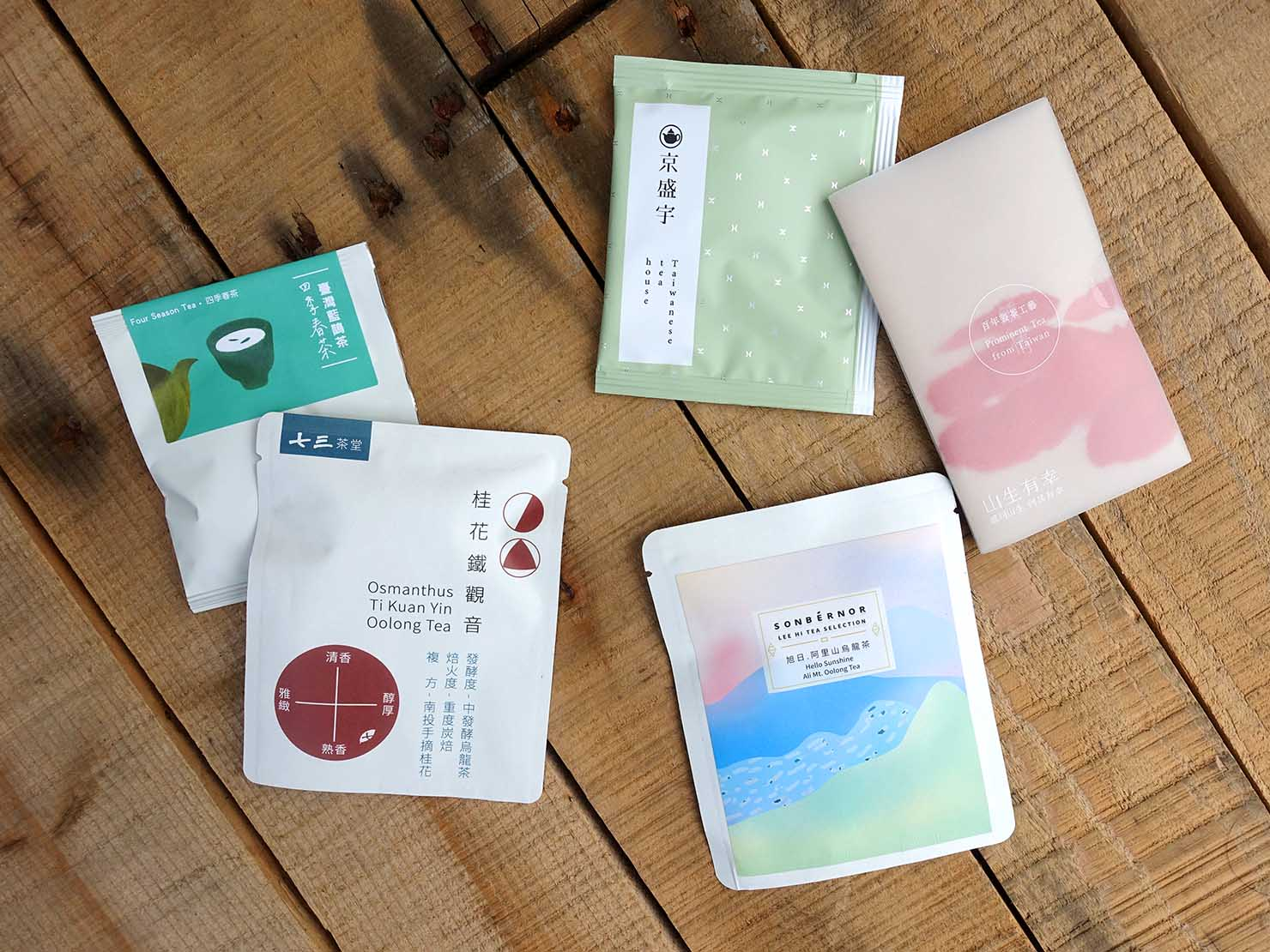 台北101エリアでのおみやげ探しにおすすめのショップ「好丘 Good Cho's」で買ったおみやげ・台湾茶のバラ売りパック