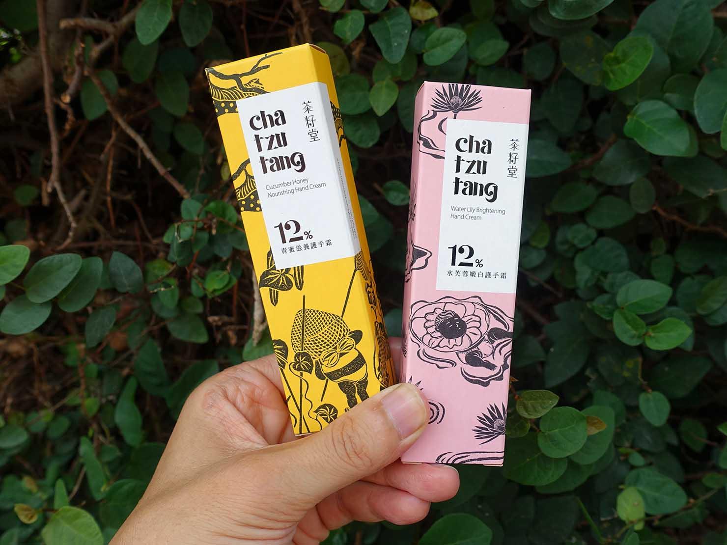 台北101エリアでのおみやげ探しにおすすめのショップ「好丘 Good Cho's」で買ったおみやげ・茶籽堂護手霜