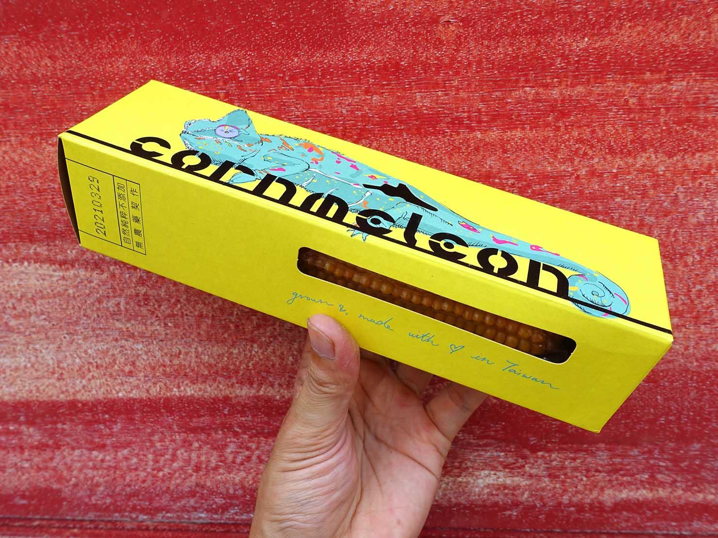 台北101エリアでのおみやげ探しにおすすめのショップ「好丘 Good Cho's」で買ったおみやげ・cornmeleon有梗爆米花