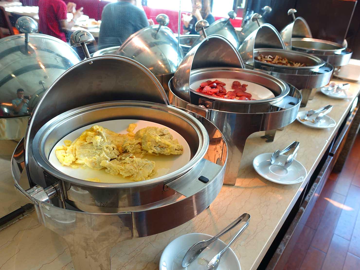 花蓮市街中心部にあるホテル「馥麗生活旅店 Quality Inn」朝ごはんのおかず類
