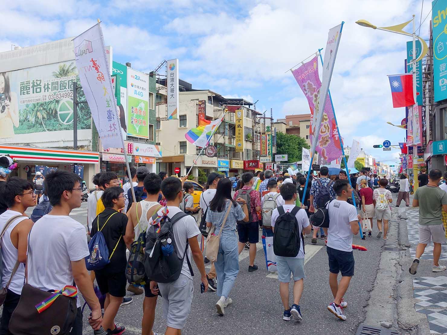 花東彩虹嘉年華(台湾東部LGBTプライド)のパレード隊列