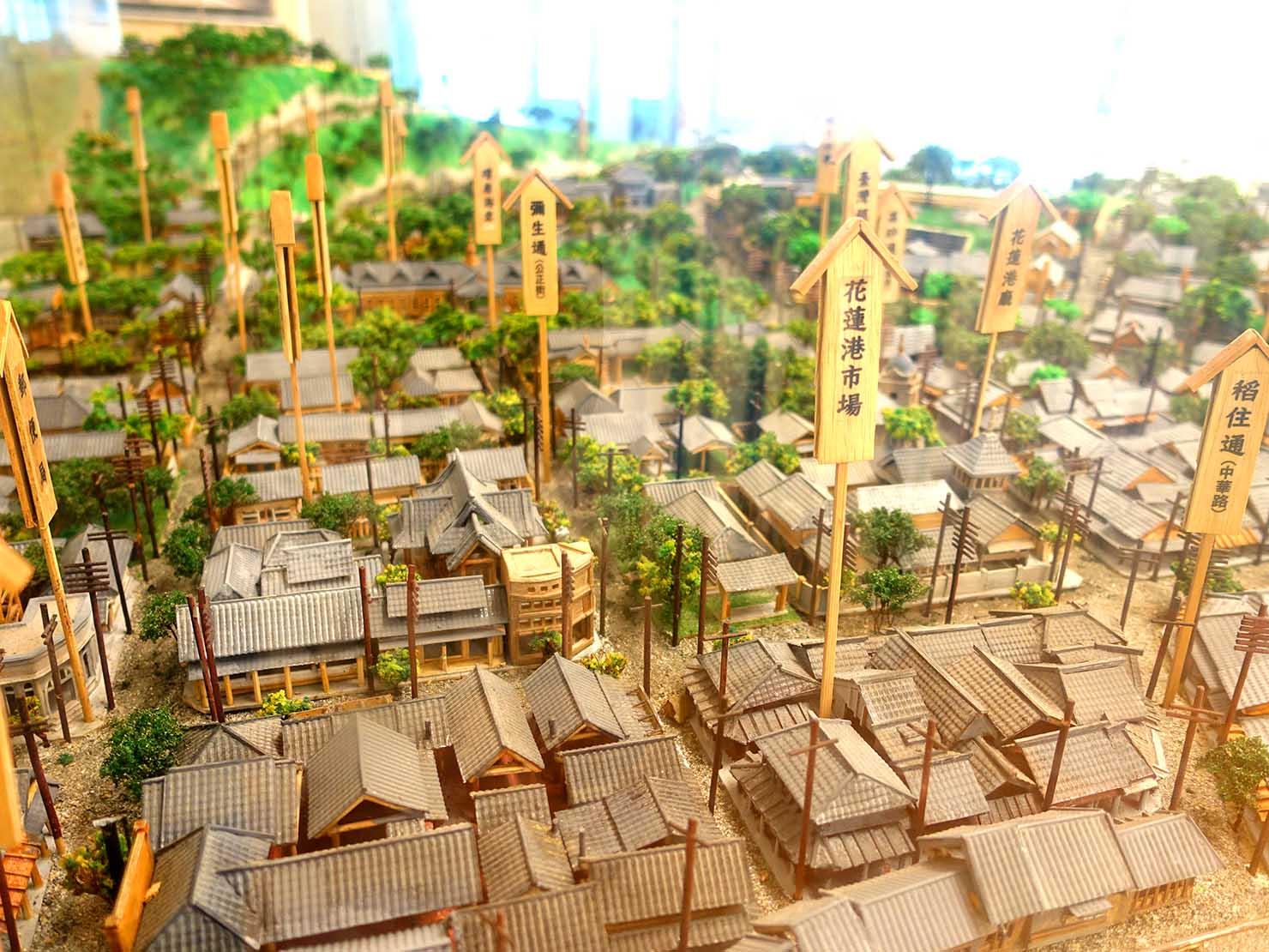 台湾・花蓮のおすすめ観光スポット「將軍府」に展示されている日本統治時代の花蓮俯瞰図