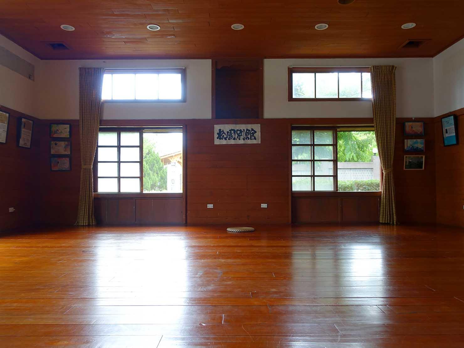 台湾・花蓮のおすすめ観光スポット「松園別館」の木造小屋内部