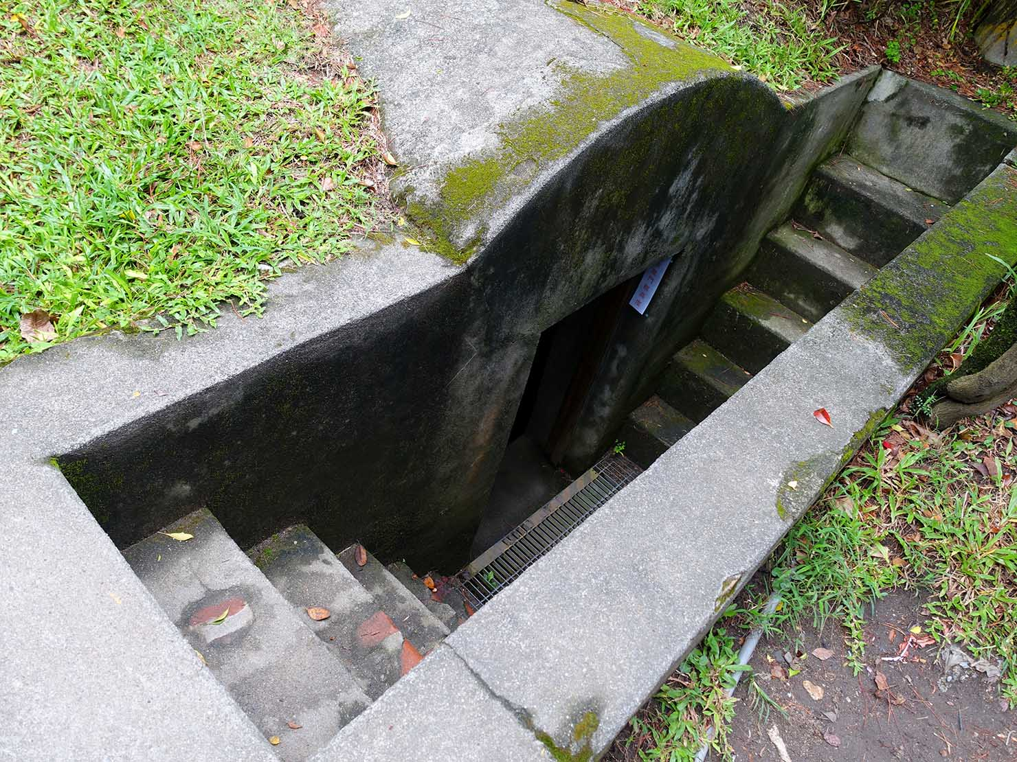 台湾・花蓮のおすすめ観光スポット「松園別館」のシェルターへと続く階段