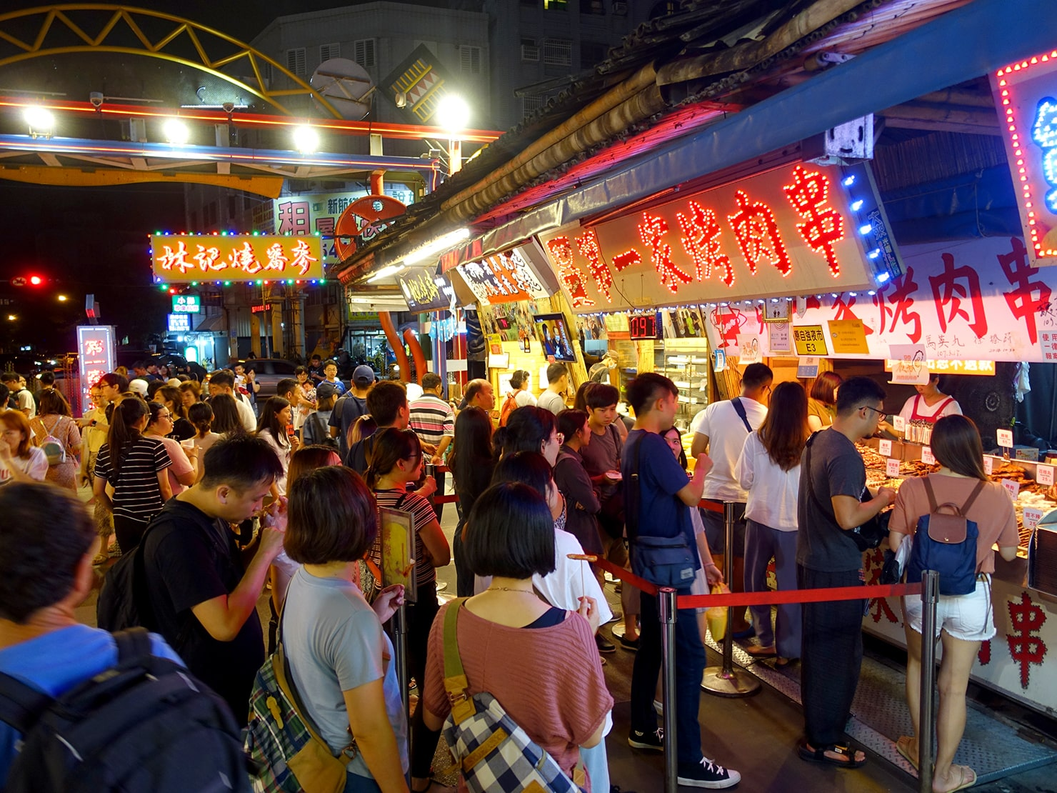 台湾・花蓮のおすすめ観光スポット「東大門夜市」の人気屋台