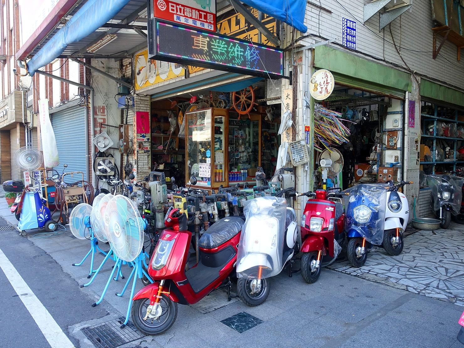 台湾・花蓮のおすすめ観光スポット「溝仔尾」のバイク屋さん