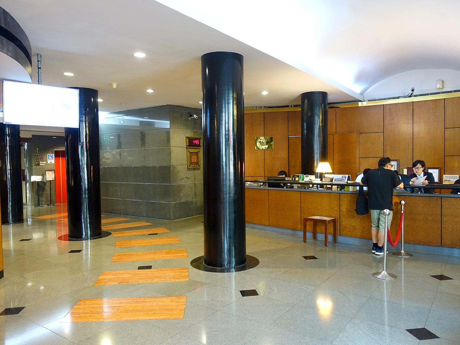 台南駅が目の前の老舗ホテル「台南大飯店 Hotel Tainan」のロビー
