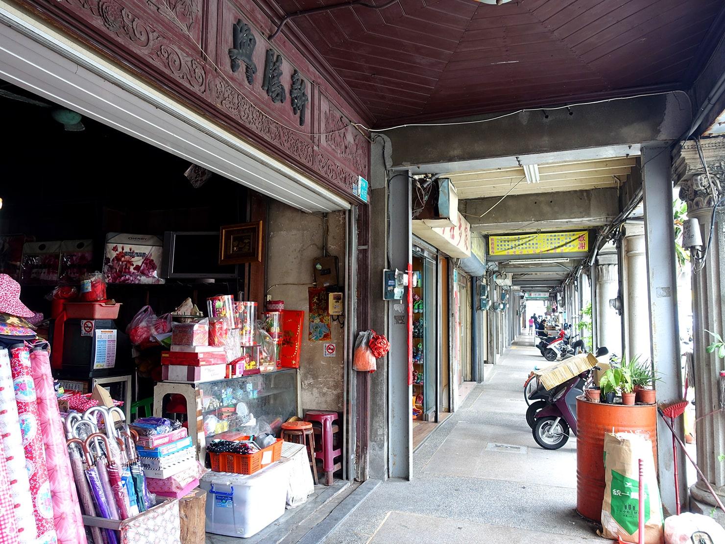 台南市街郊外のおすすめ観光スポット「新化老街」の騎樓