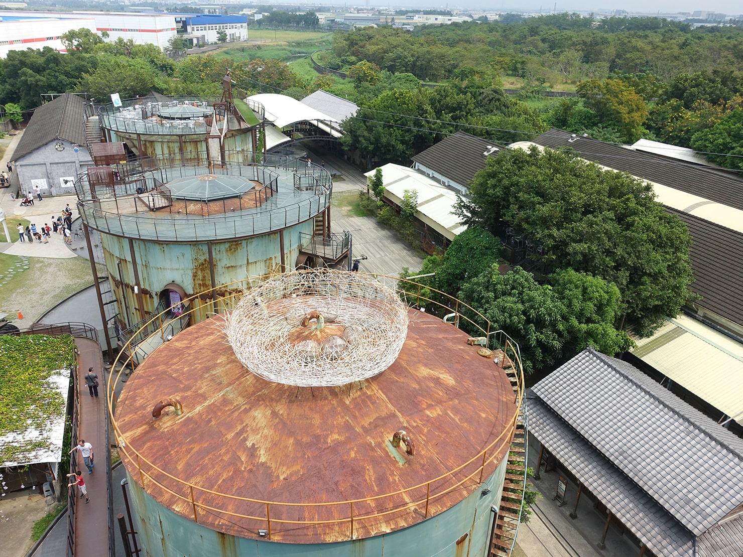 台南市街郊外のおすすめ観光スポット「十鼓仁糖文化園區」の俯瞰