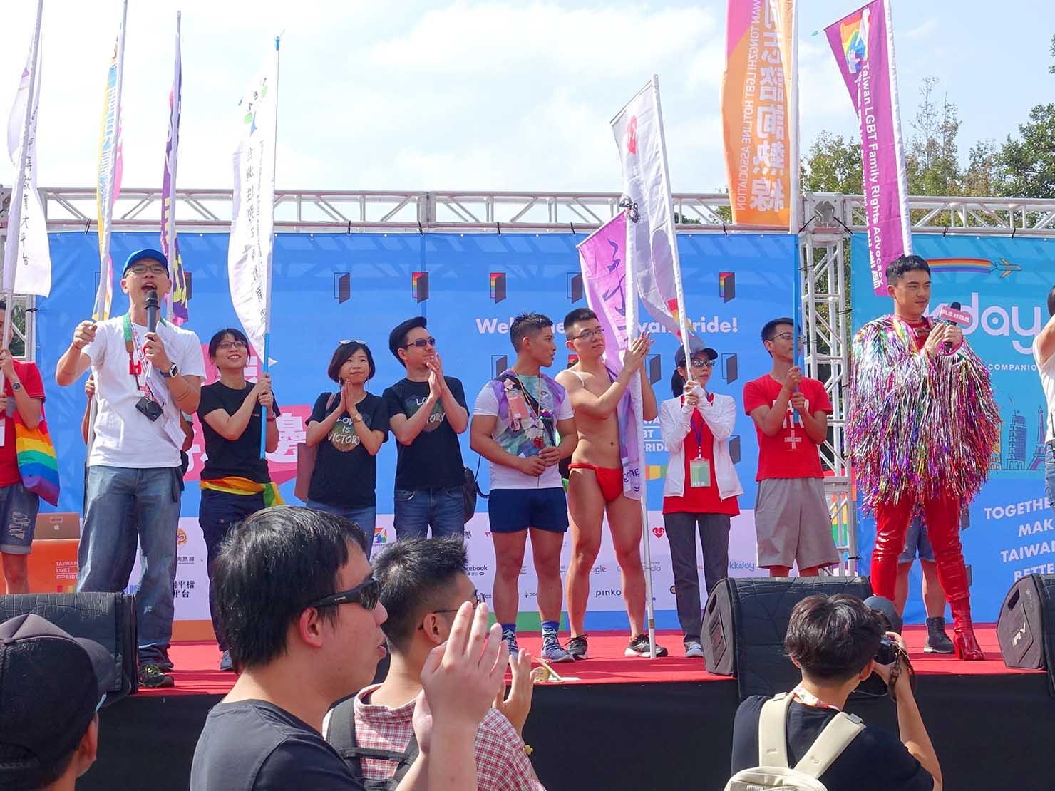 台灣同志遊行(台湾LGBTプライド)2019の会場ステージ