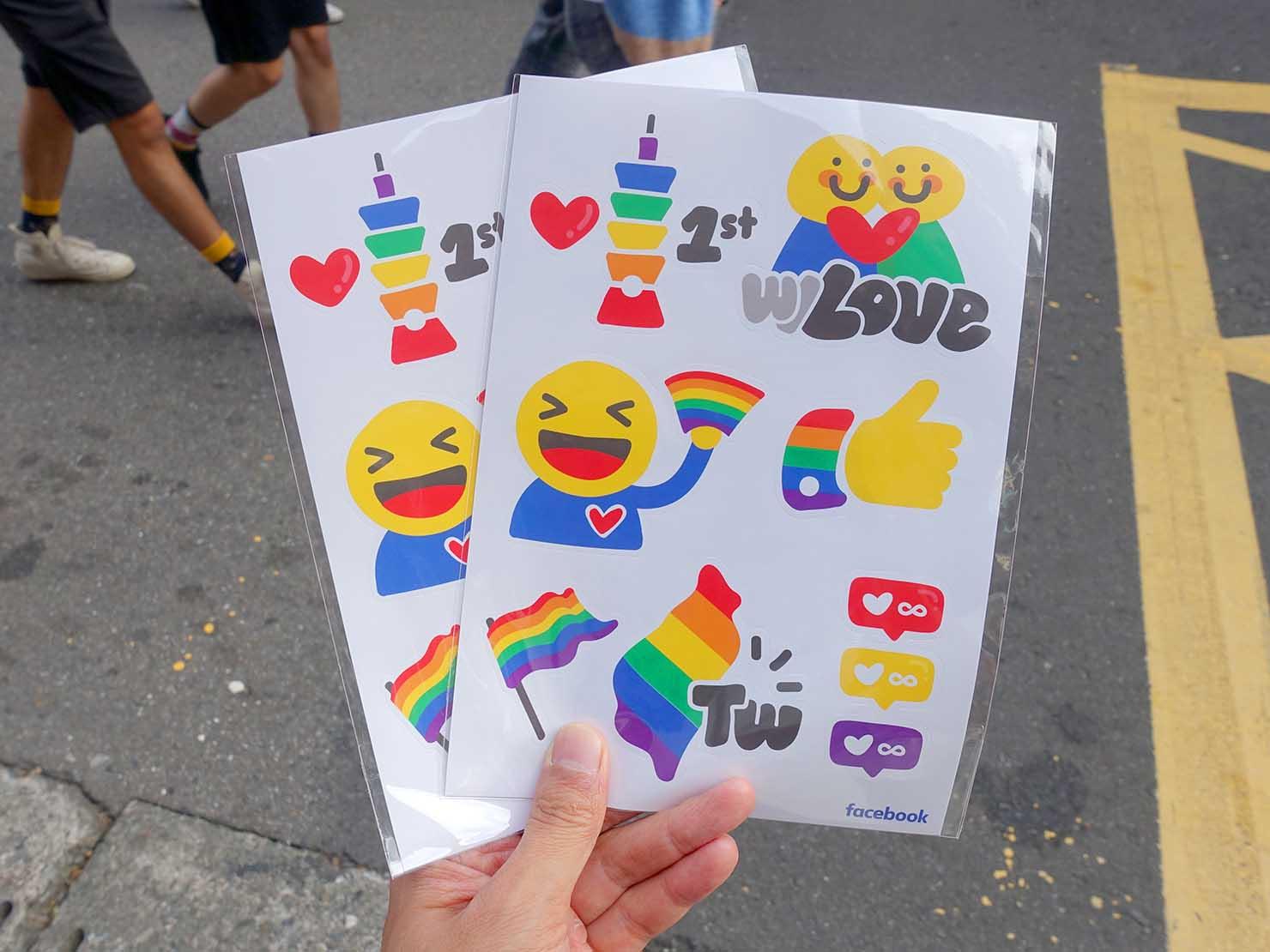 台灣同志遊行(台湾LGBTプライド)2019のパレードで配布されたレインボーステッカー