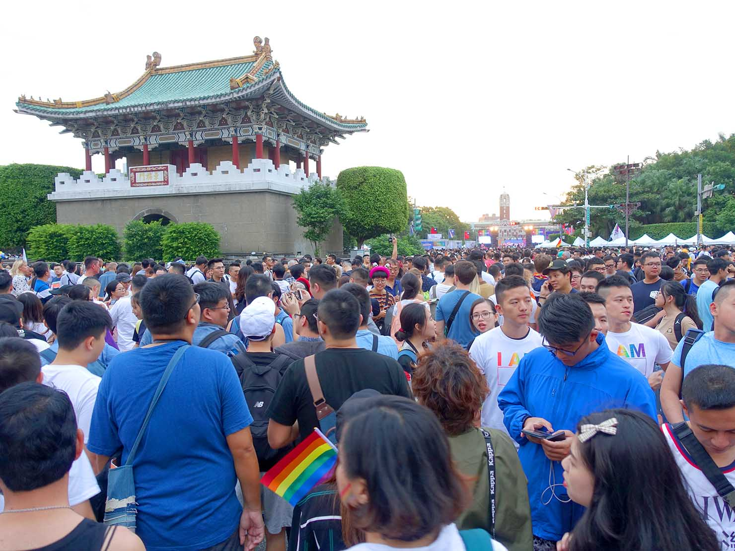 台灣同志遊行(台湾LGBTプライド)2019パレードのゴール地点となった總統府前