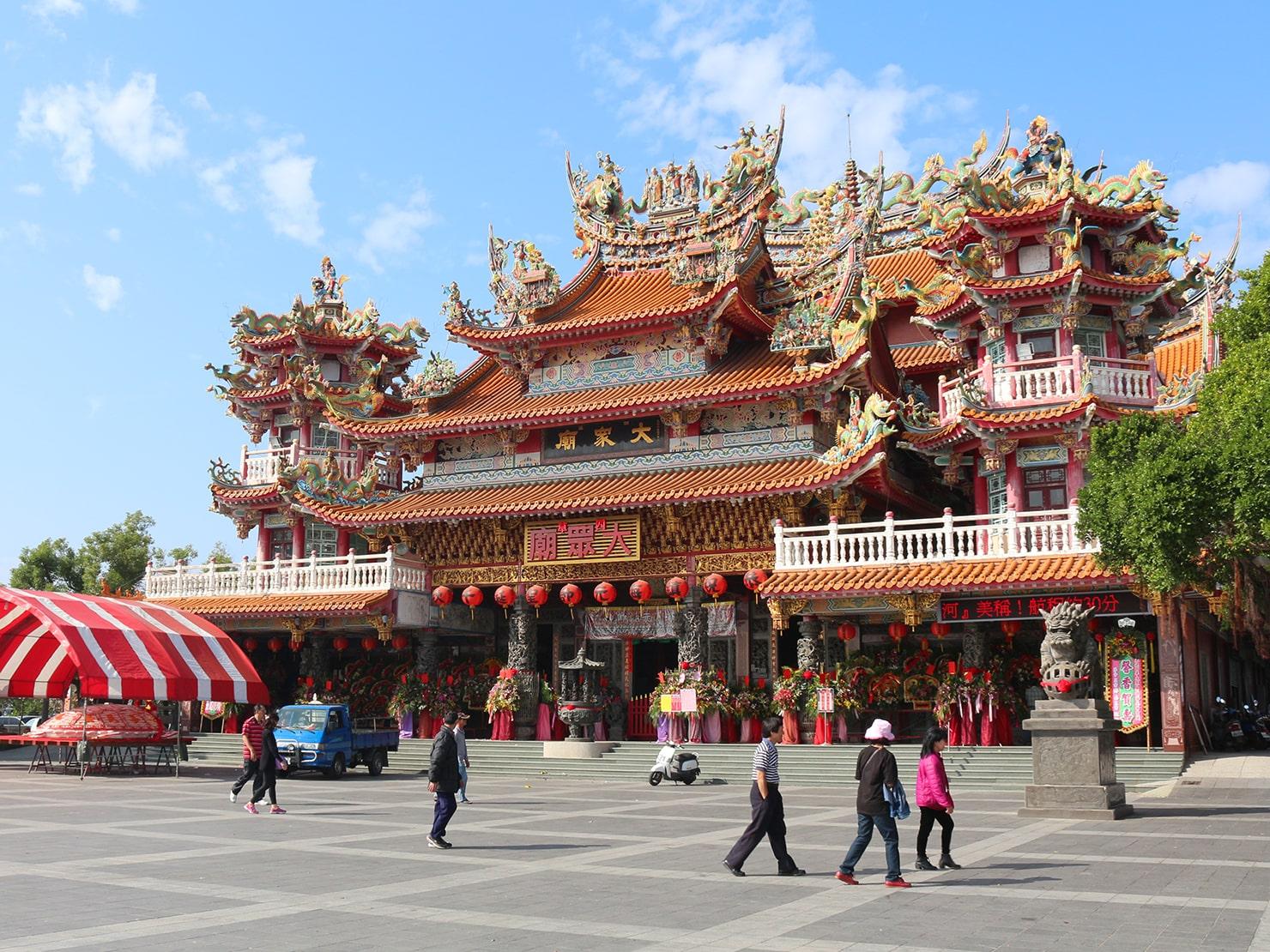 台南市街郊外のおすすめ観光スポット「四草大眾廟」