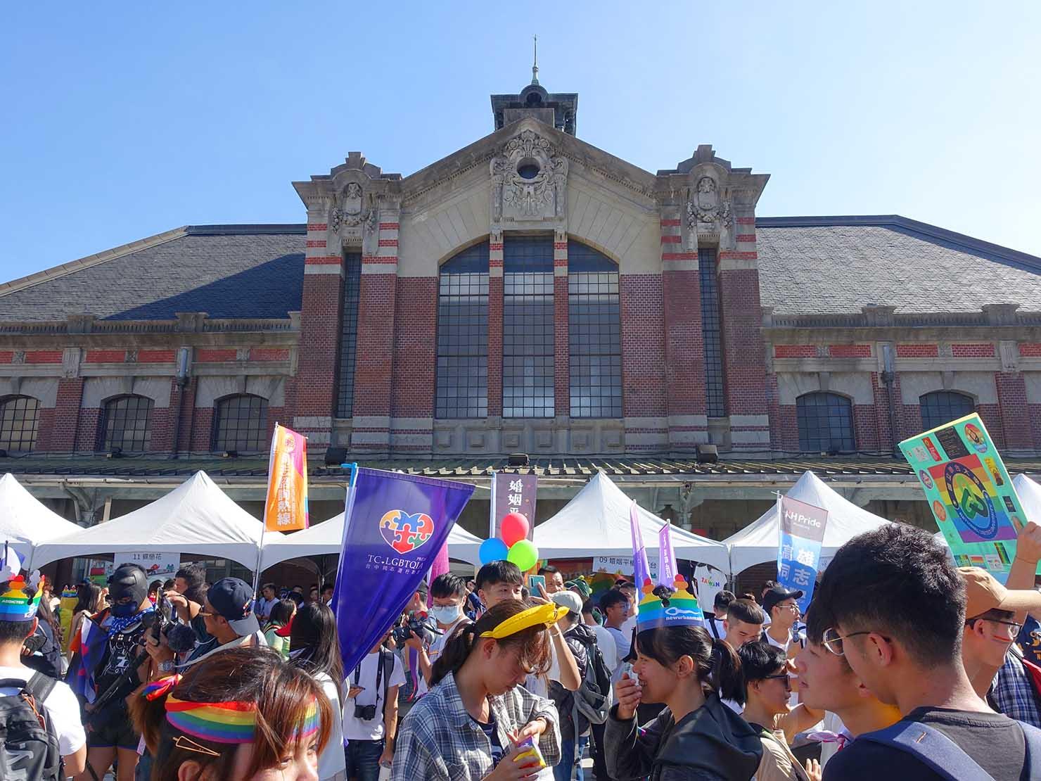 台中同志遊行(台中LGBTプライド)2019当日の台鐵・台中駅