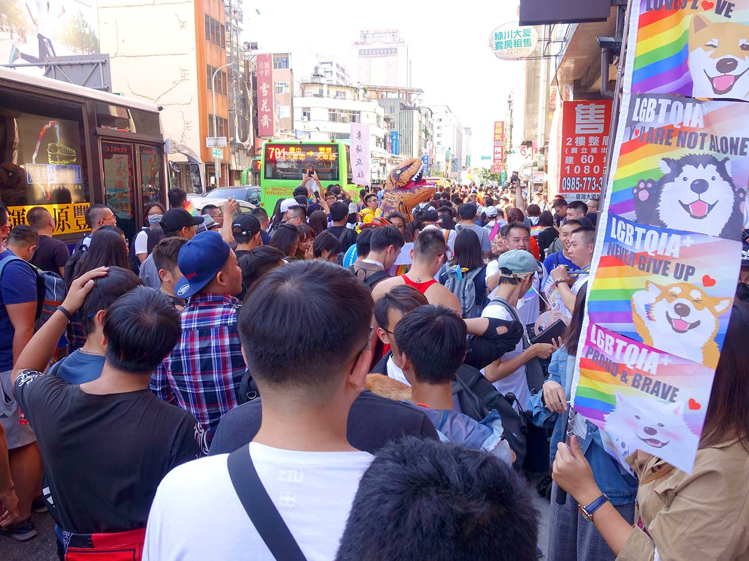 台中同志遊行(台中LGBTプライド)2019のパレード隊列