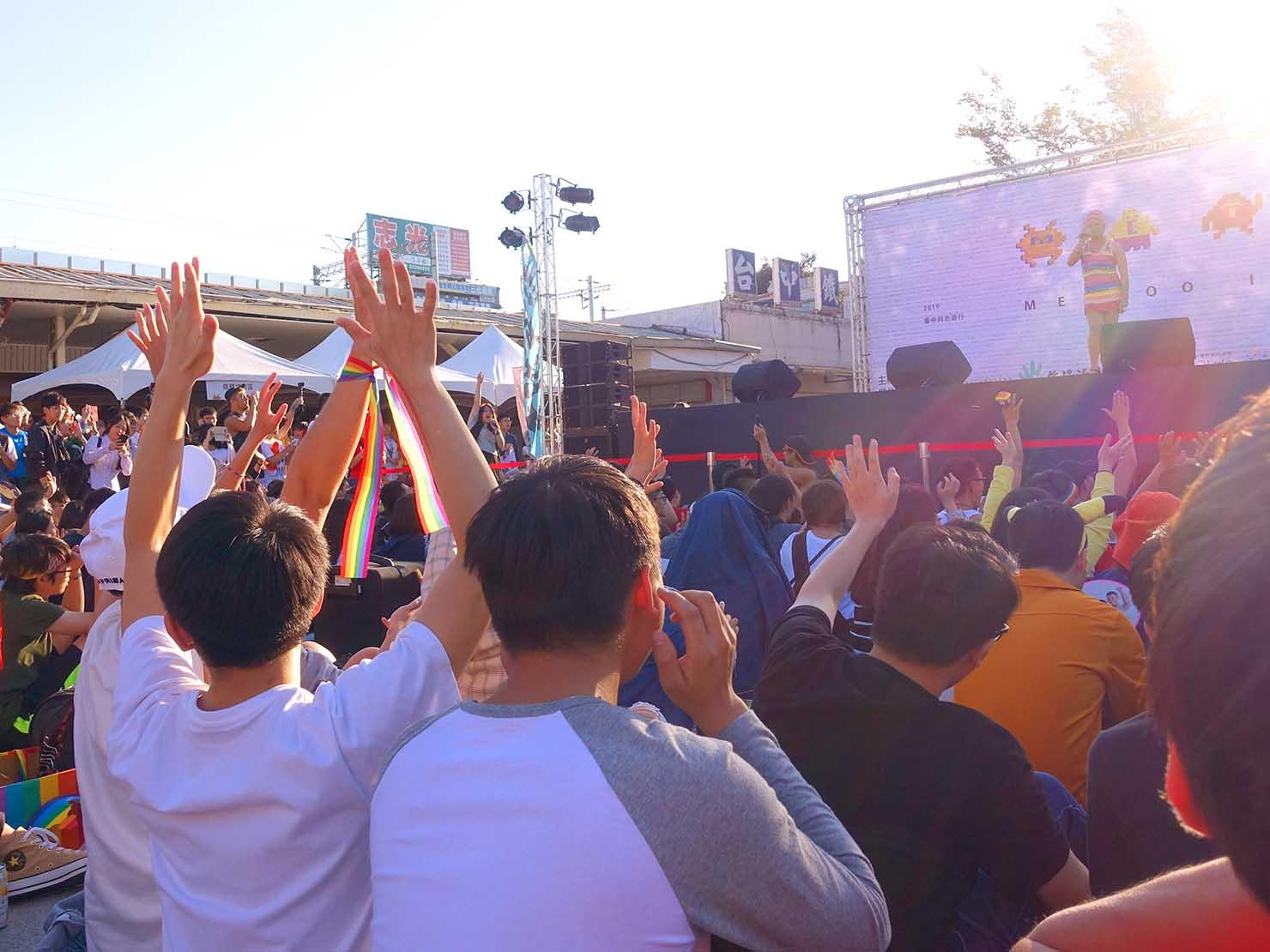 台中同志遊行(台中LGBTプライド)2019パレード後のステージ