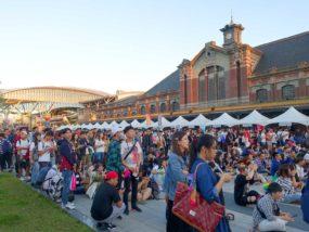 台中同志遊行(台中LGBTプライド)2019パレード後の台鐵・台中駅前