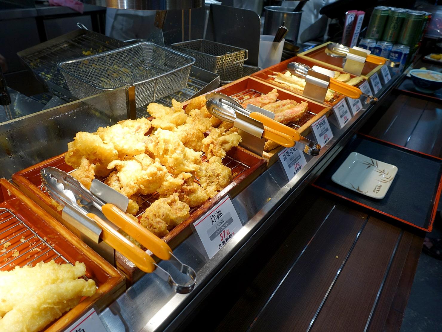 台湾「丸亀製麺」の天ぷら