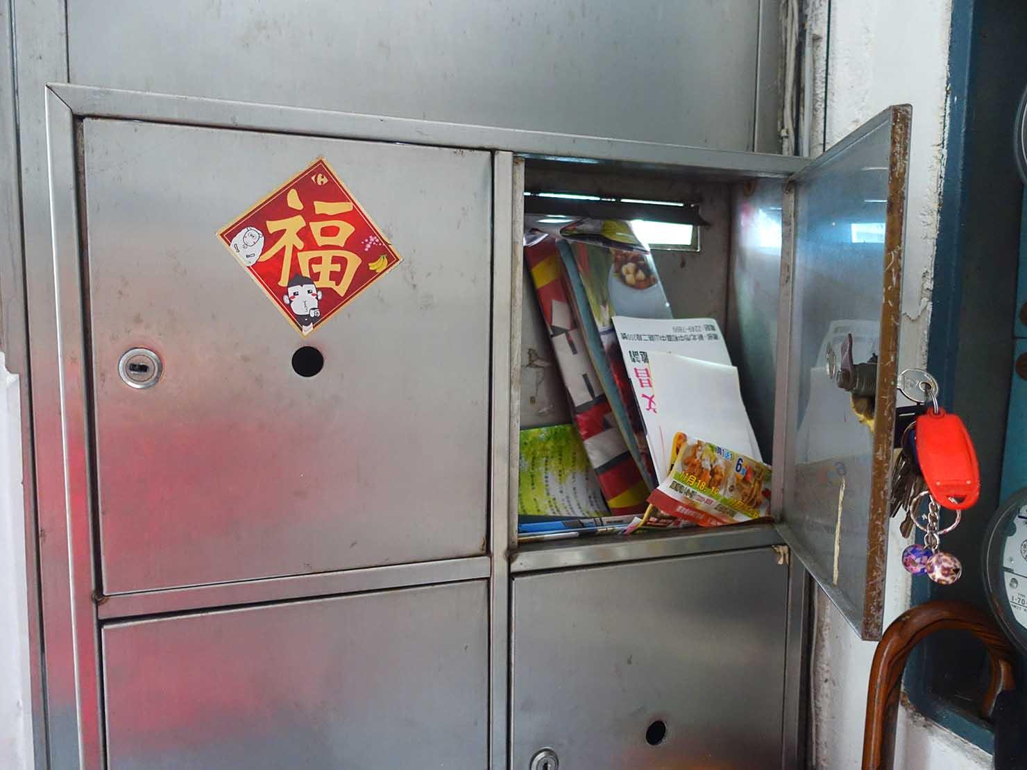 台湾の一般的な住宅「公寓」のポスト