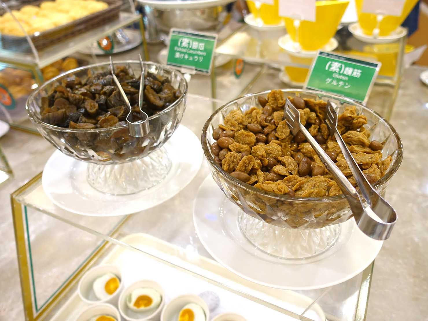 高雄のおすすめチェーンホテル「康橋商旅 Kindness Hotel(漢神館)」朝食ビュッフェのおかゆのお供