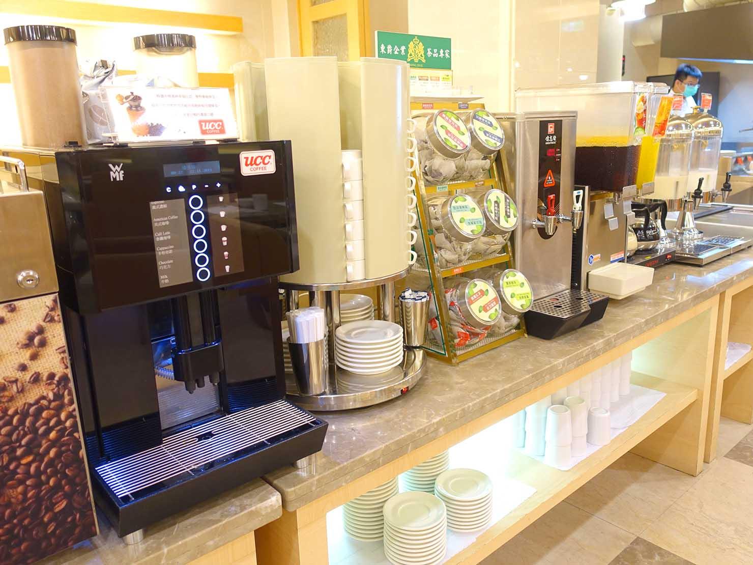 高雄のおすすめチェーンホテル「康橋商旅 Kindness Hotel(漢神館)」朝食ビュッフェのドリンク