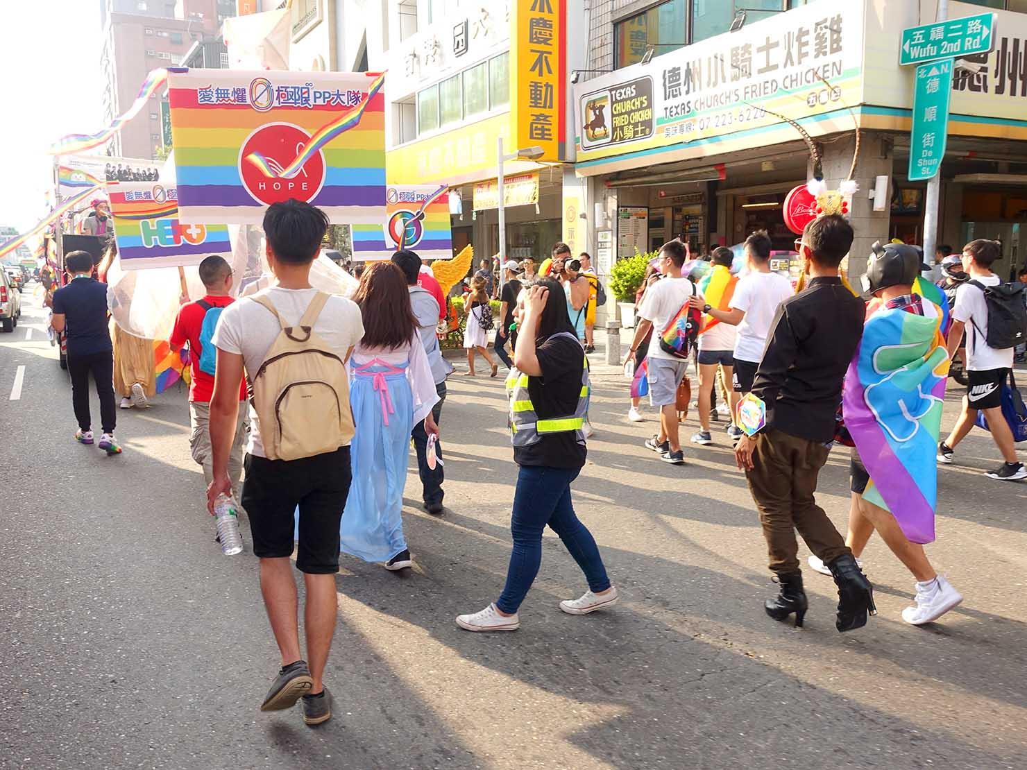 「高雄同志大遊行(高雄プライド)」2019のパレードを歩く参加団体