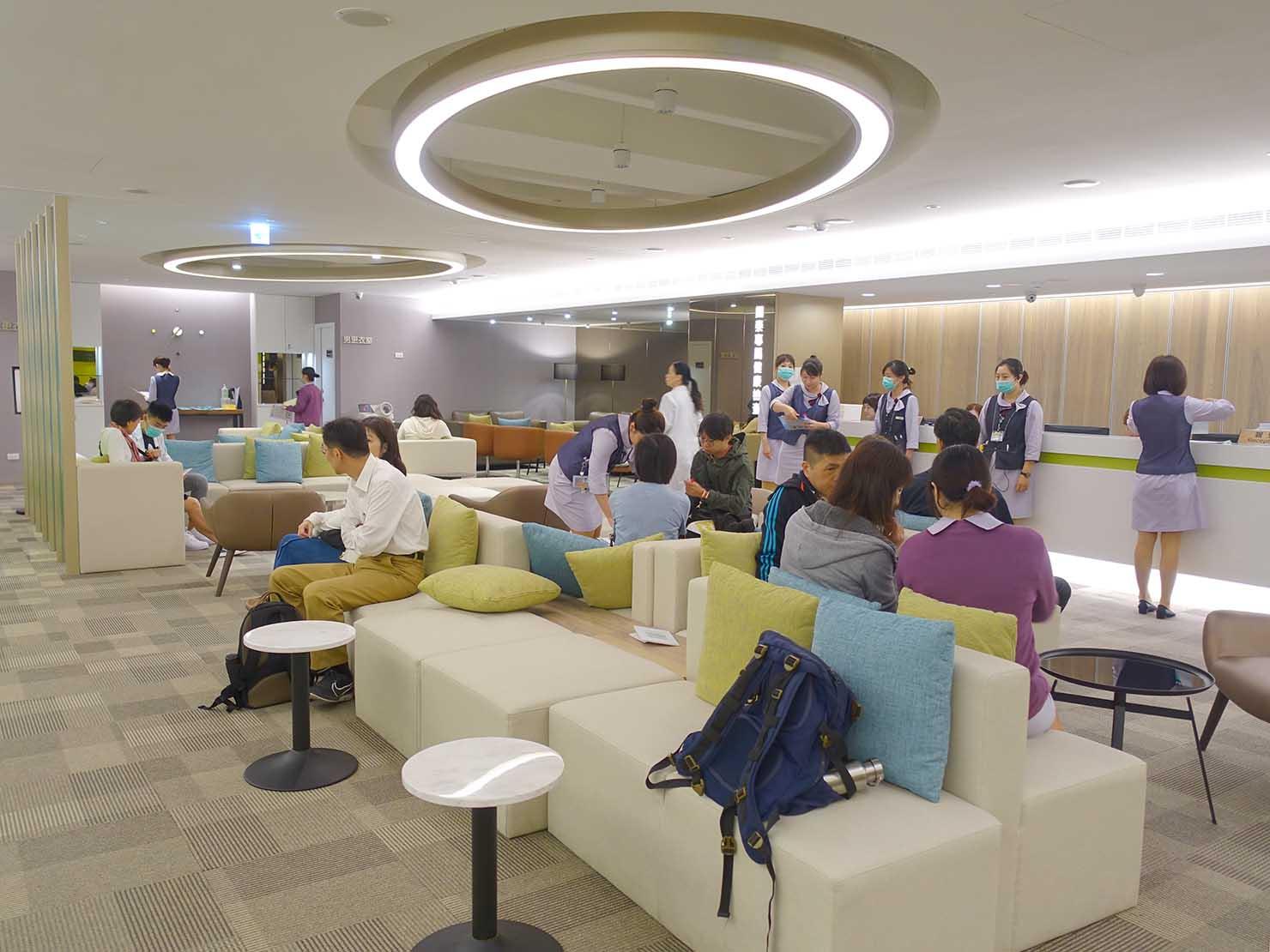 台湾の健康診断センター「國泰健康管理」の2Fフロア