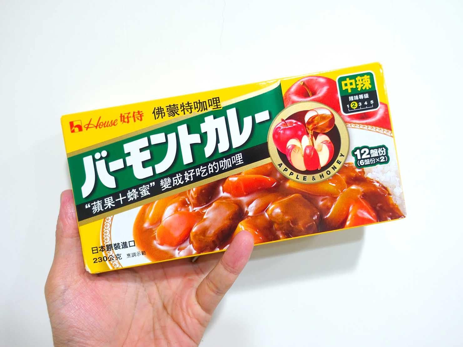 台湾のスーパーで手に入る調味料「咖哩塊(カレールー)」