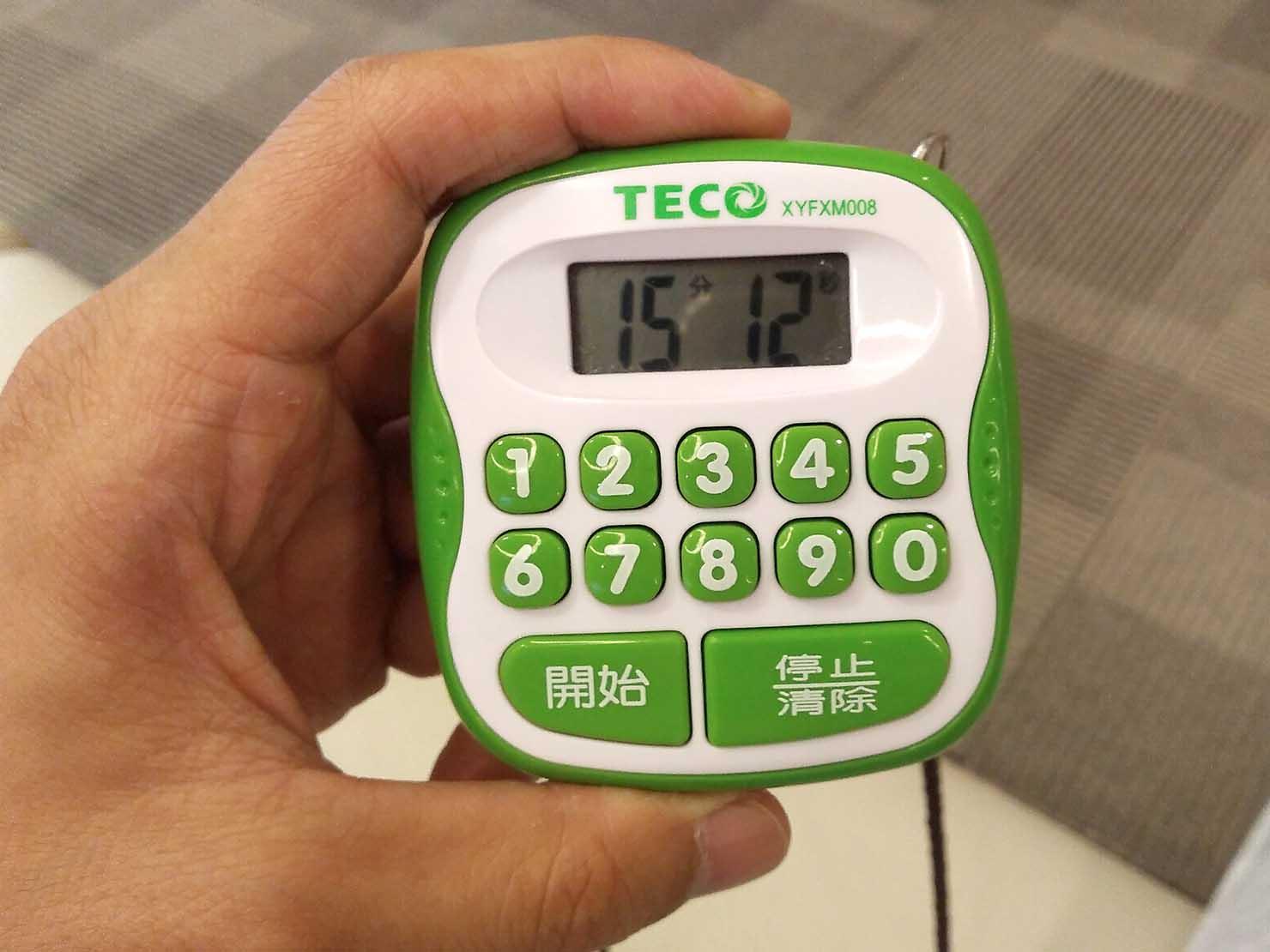 台湾の健康診断センター「國泰健康管理」のストップウォッチ