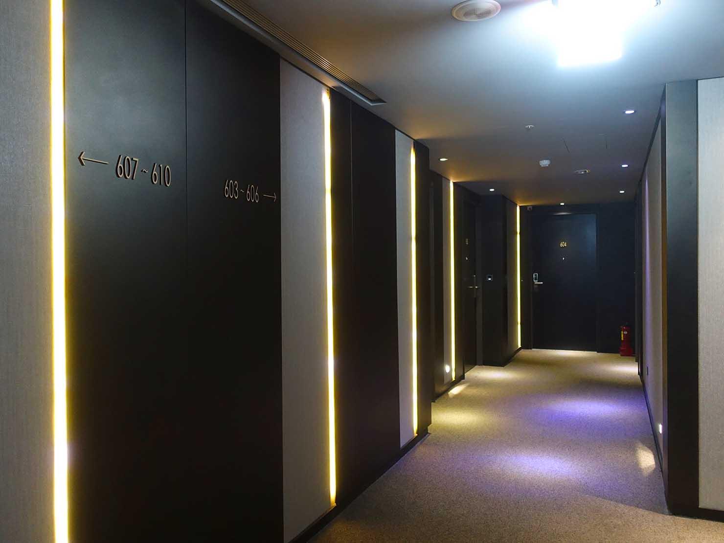 嘉義のおすすめホテル「嘉義觀止」のエレベーターホール