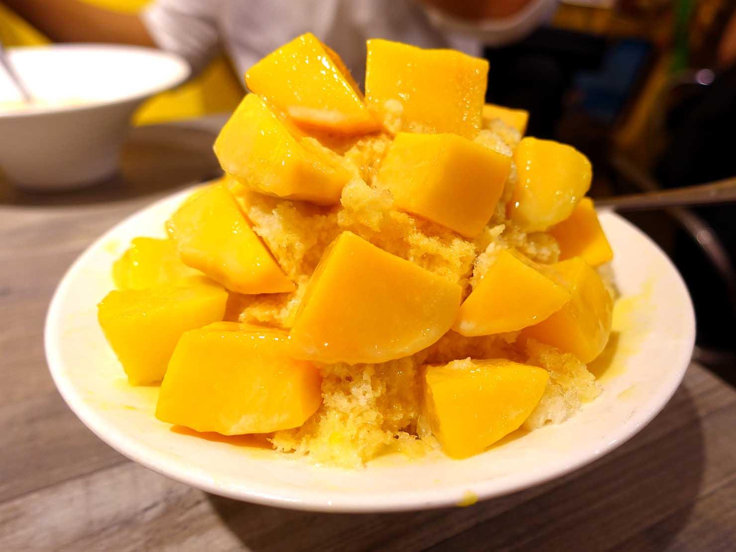 台北・松江南京駅(四平街商圈)周辺のおすすめグルメ店「綠豆蒜啥米」の愛文芒果冰
