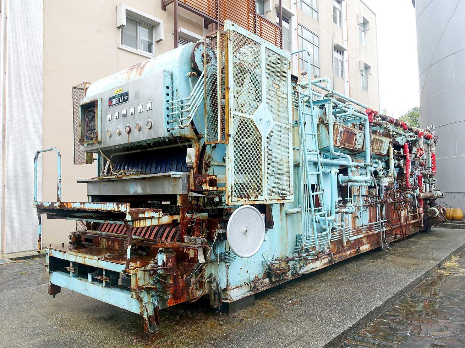 嘉義のおすすめ観光スポット「嘉義文創園區」で昔使われていた機械