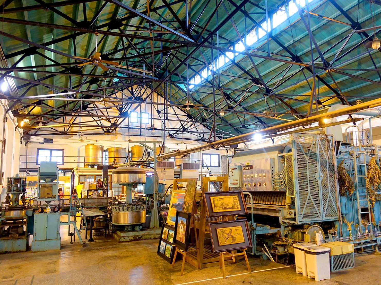 嘉義のおすすめ観光スポット「嘉義文創園區」の工場内