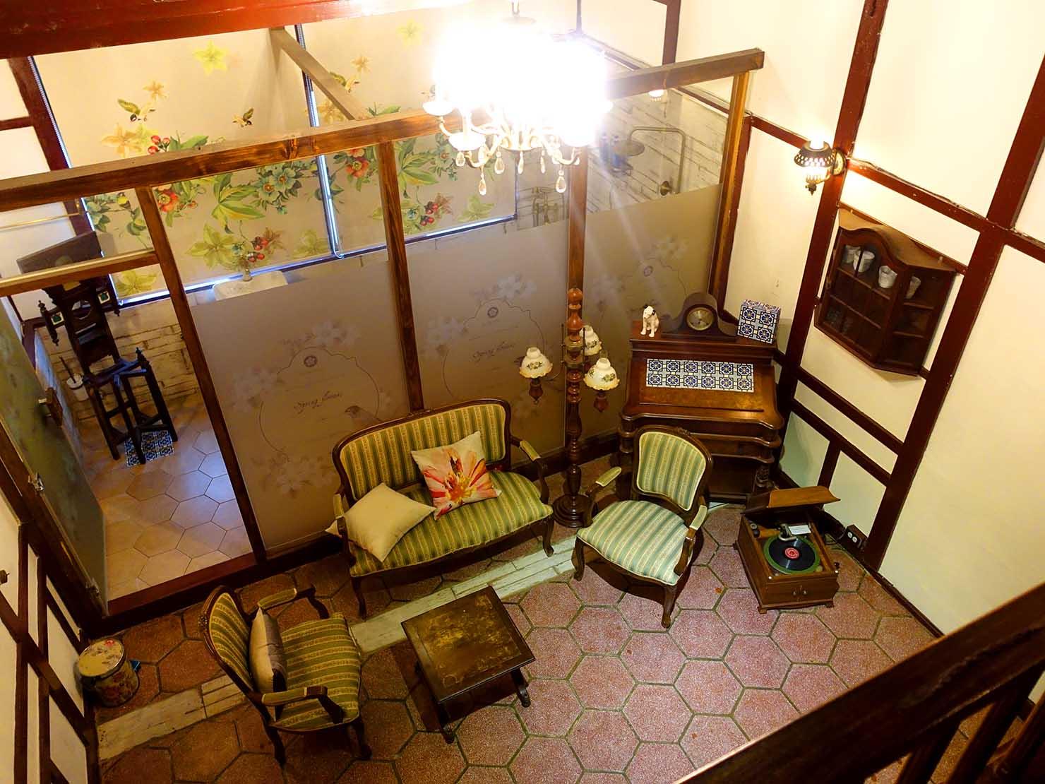 嘉義のおすすめ観光スポット「台灣花磚博物館」2Fのお部屋