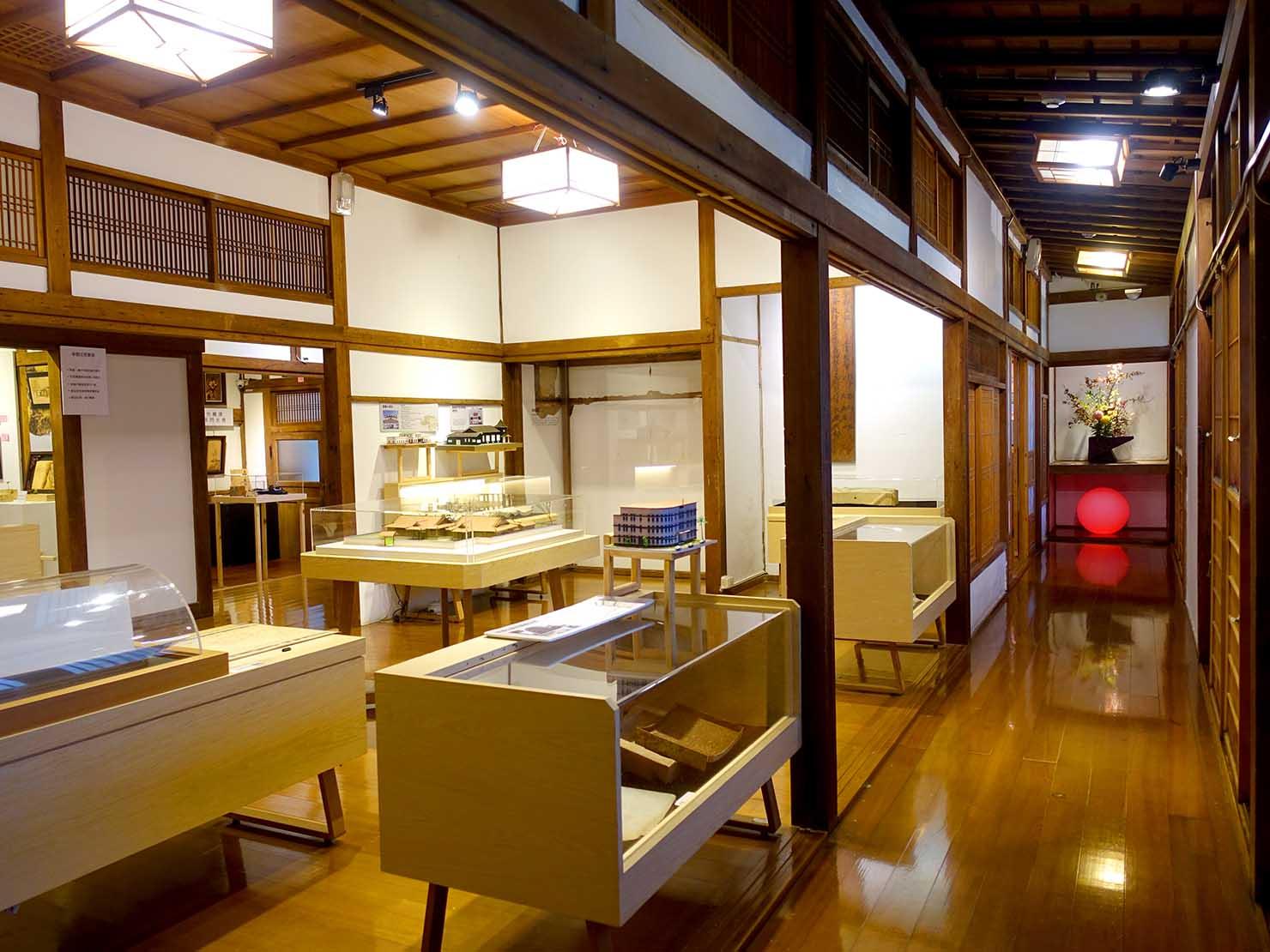 嘉義のおすすめ観光スポット「嘉義市史蹟資料館」の展示スペース