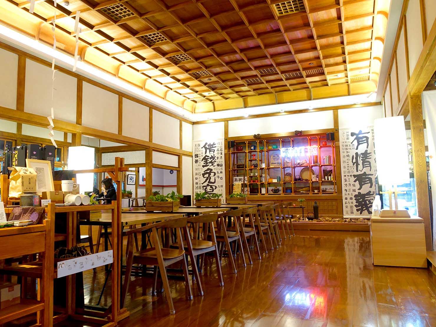 嘉義のおすすめ観光スポット「嘉義市史蹟資料館」のカフェスペース大広間
