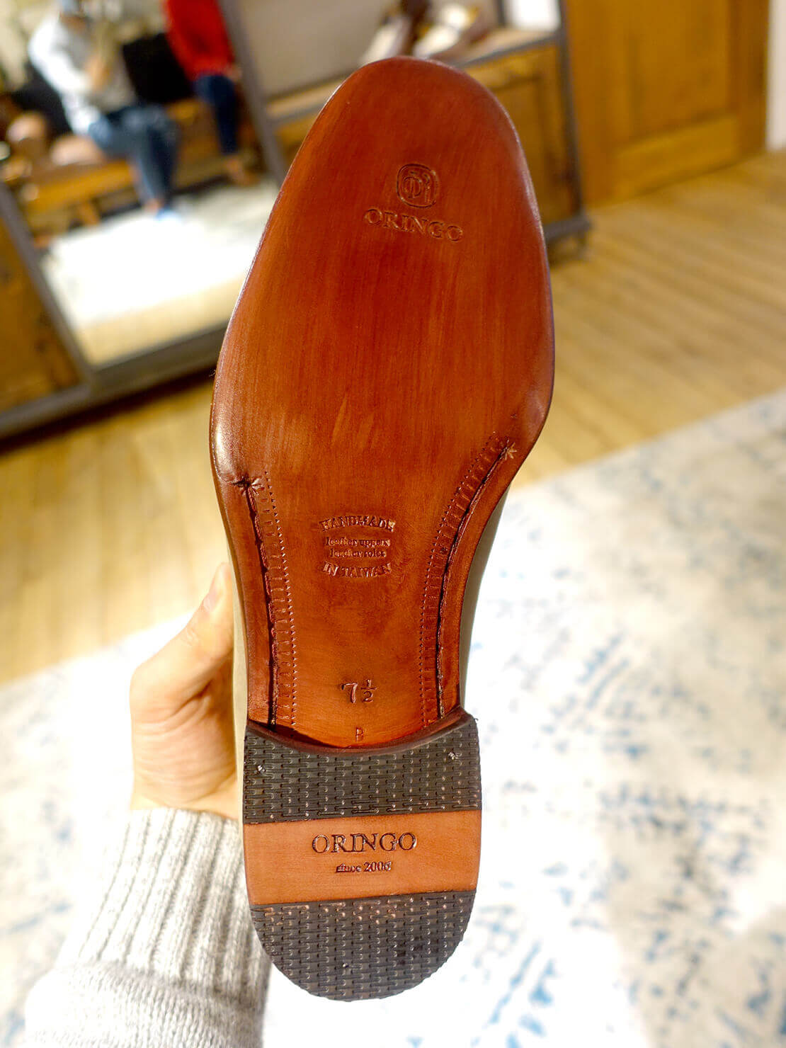 台湾のおすすめ革靴ブランド「林果良品 ORINGO」のレザーソール