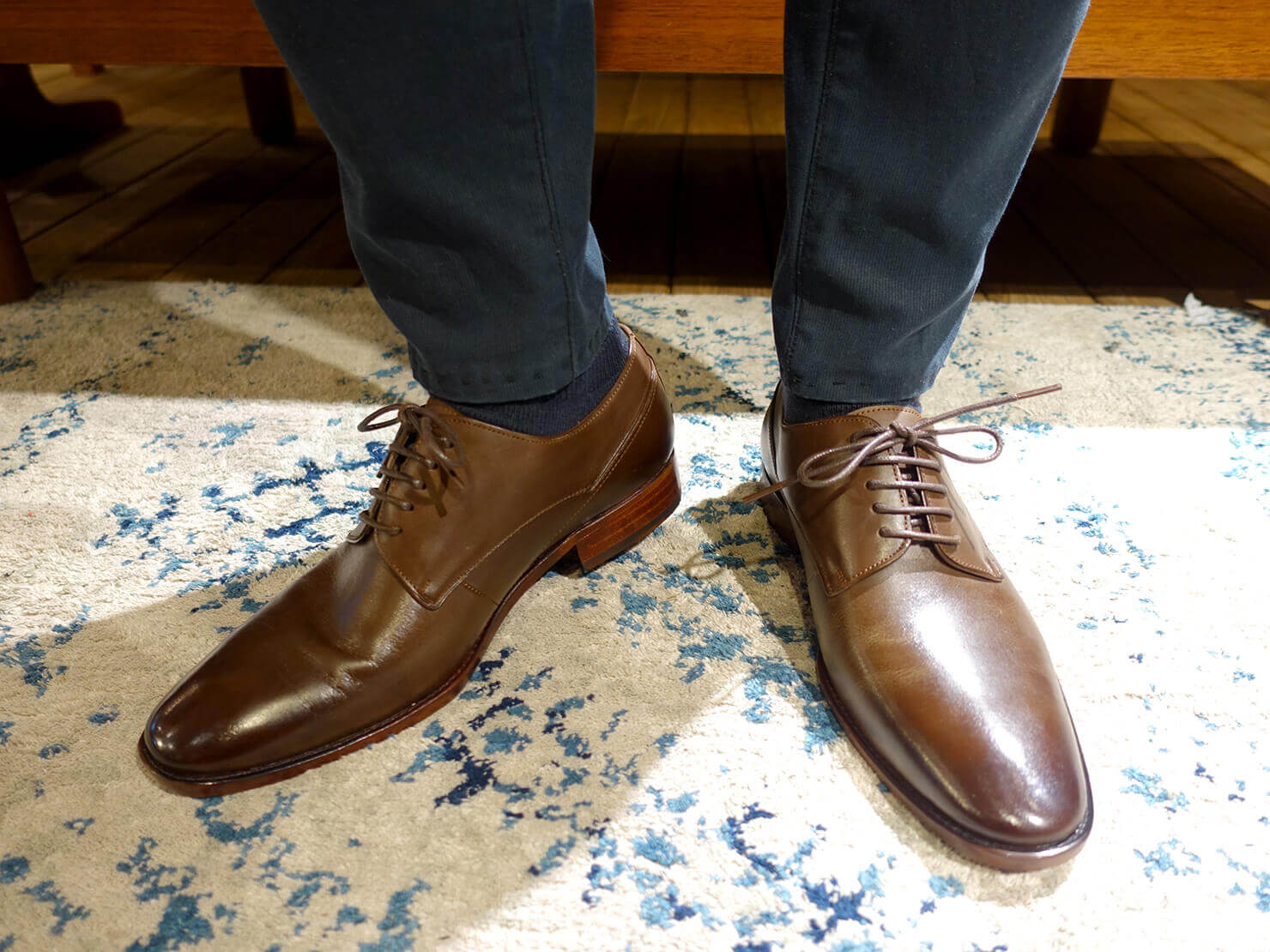 台湾のおすすめ革靴ブランド「林果良品 ORINGO」の鑲邊飾線德比鞋(ダービー・シューズ)