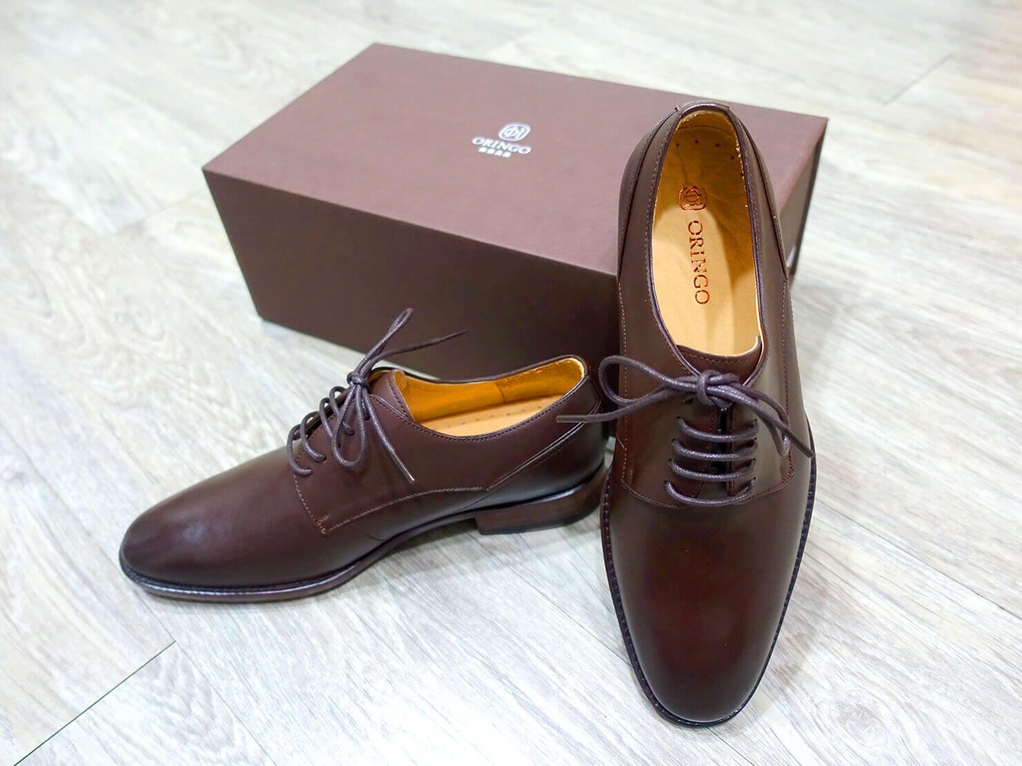 台湾のおすすめ革靴ブランド「林果良品 ORINGO」から家に宅配された鑲邊飾線德比鞋(ダービー・シューズ)