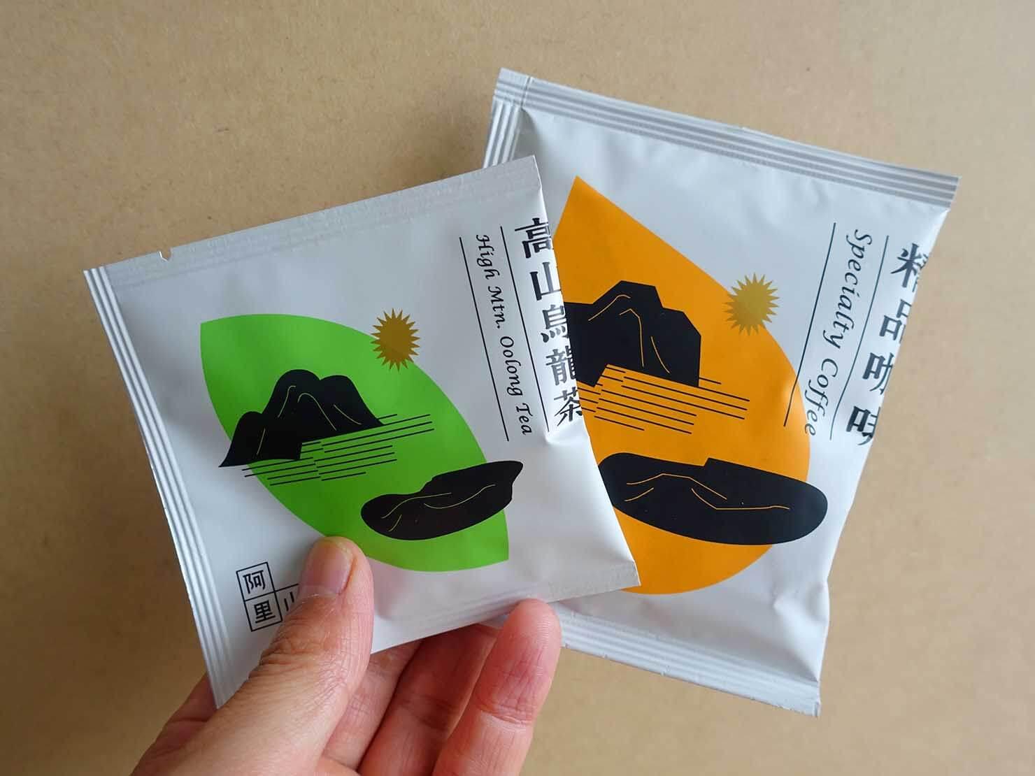 台北・永康街のおすすめおみやげショップ「來好 LAIHAO」で買った精品咖啡&高山烏龍茶パック