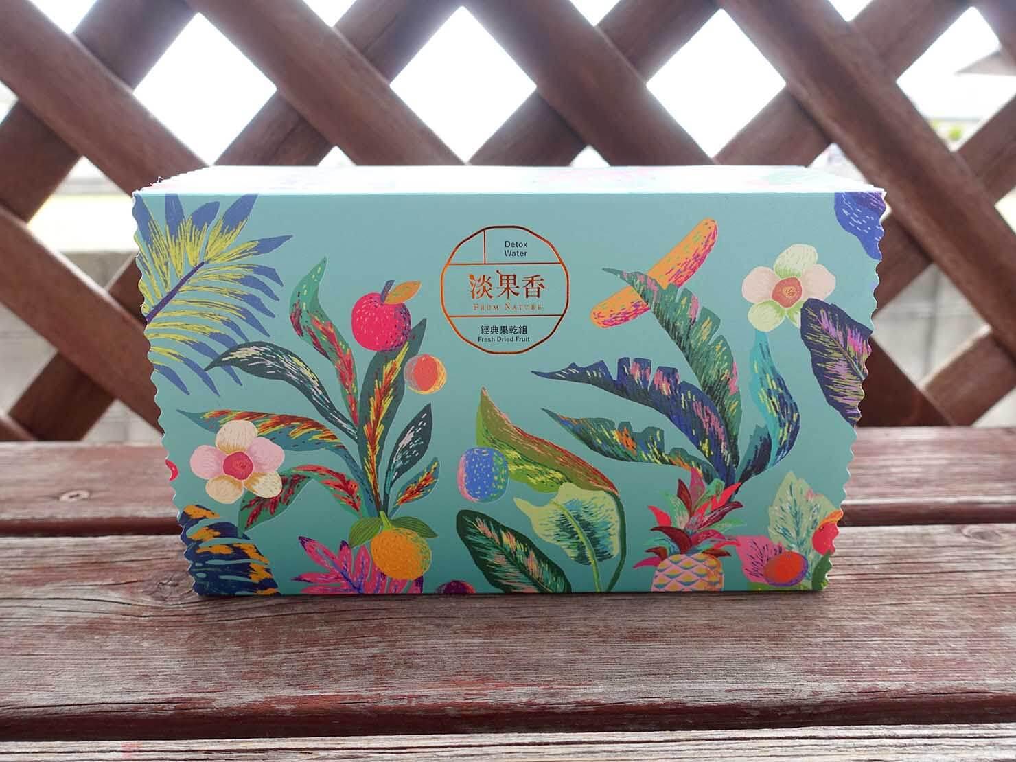 台北・永康街のおすすめおみやげショップ「來好 LAIHAO」で買った淡果香の經典果乾組パッケージ