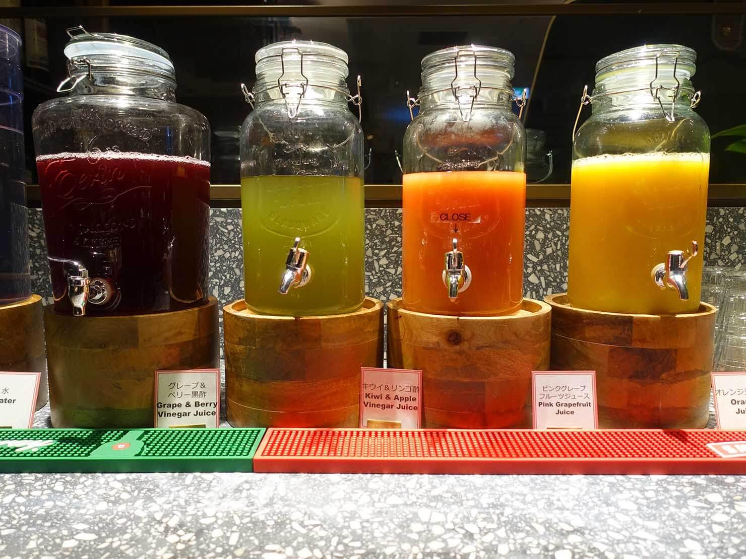 福岡・中洲川端にあるおしゃれなおすすめホテル「THE LIVELY」のレストラン・THE LIVELY KITCHENのジュース