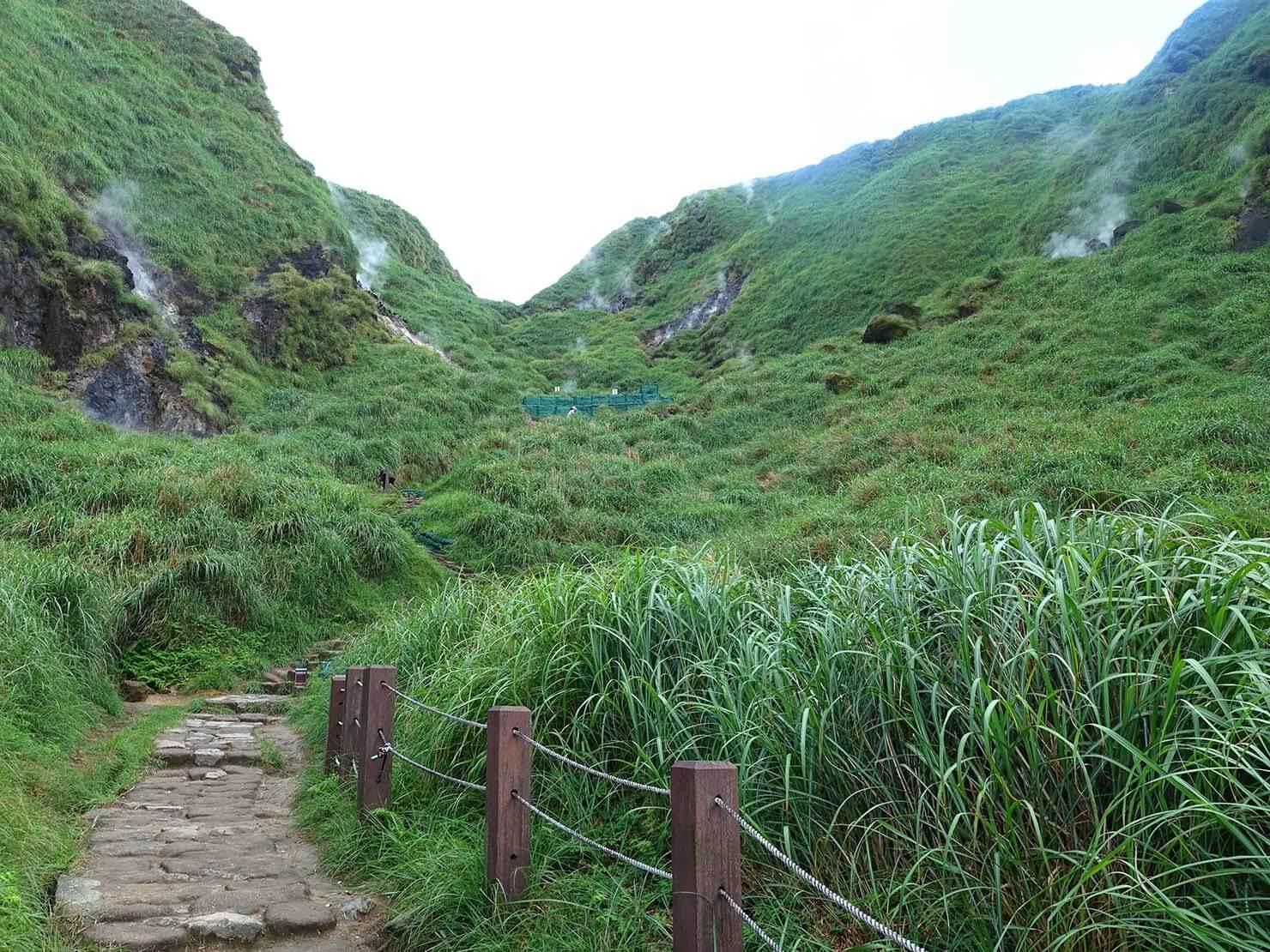 台北最高峰・七星山への登山歩道を小油坑から登る