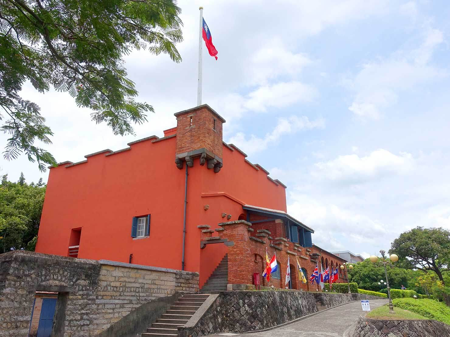 台北・淡水のおすすスポット「紅毛城」の外観