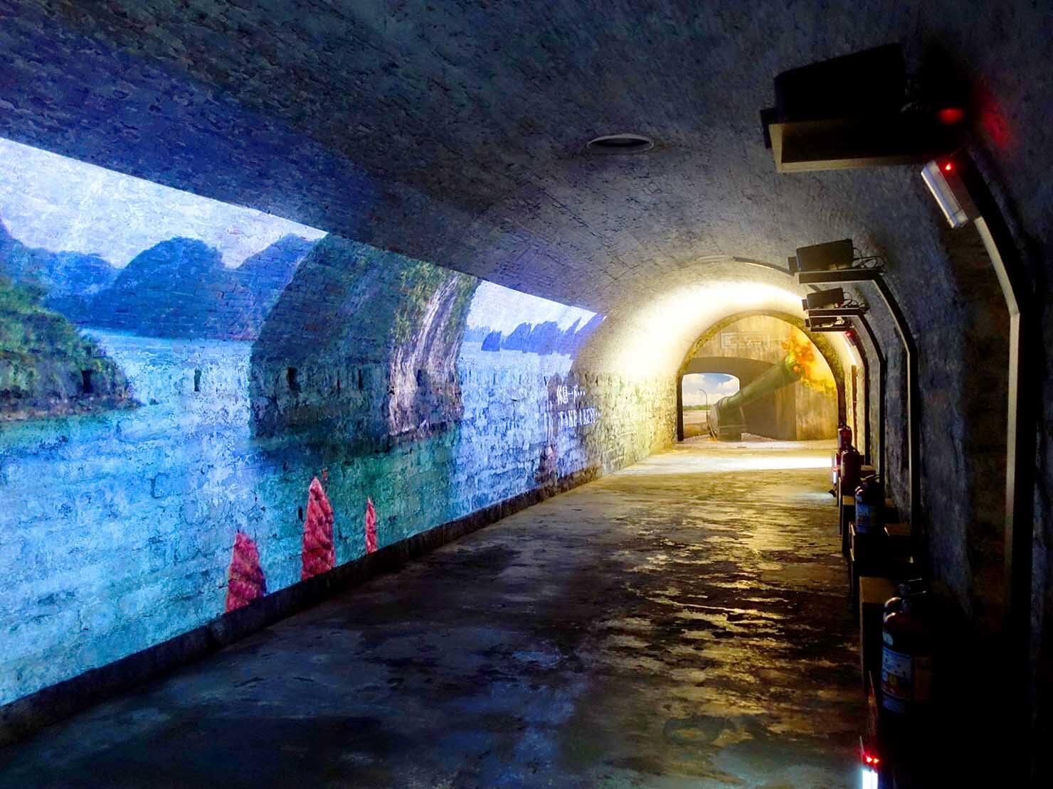 台北・淡水のおすすスポット「滬尾炮台」の屋内