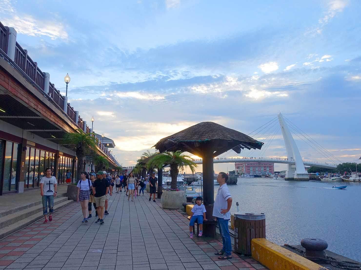 台北・淡水のおすすスポット「漁人碼頭」